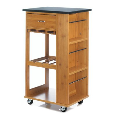 Teterboro Kitchen Cart with Marble Top