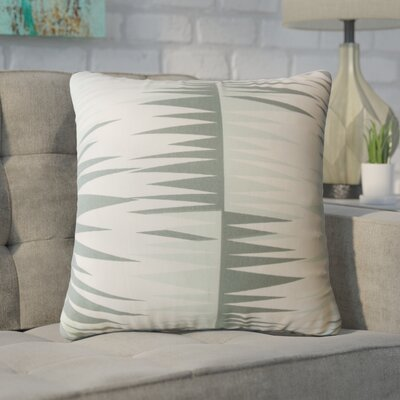 Wetzel Geometric Down Filled 100% Cotton Throw Pillow Size: 24 x 24, Color: Gray
