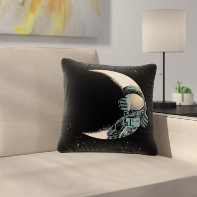 digital carbine Crescent Moon Illustration Outdoor Throw Pillow Size: 18 H x 18 W x 5 D
