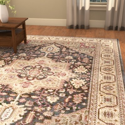 Alto Navy/Natural Area Rug Rug Size: Rectangle 51 x 77