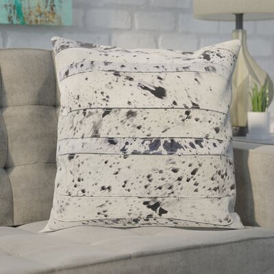 Bergan Leather Throw Pillow Color: Silver