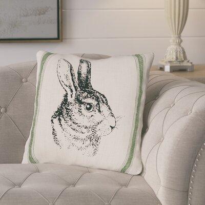 Gustafson Bunny Feed Sack Cotton Throw Pillow