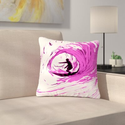 Bruce Stanfield Solo Surfer Outdoor Throw Pillow Size: 18 H x 18 W x 5 D