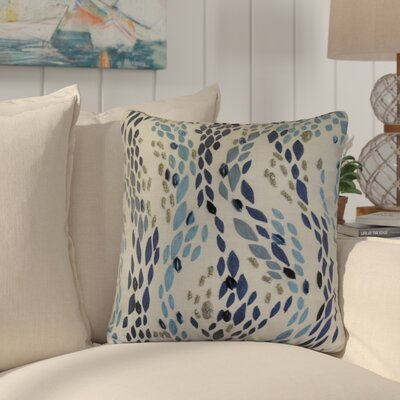Hendren Barbary Leopard Embroidered Cotton Throw Pillow