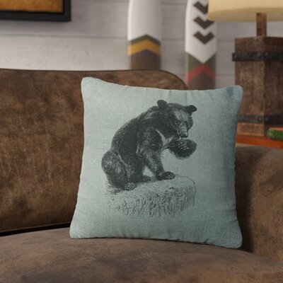 Nailwell Bear Cub Throw Pillow Color: Ocean