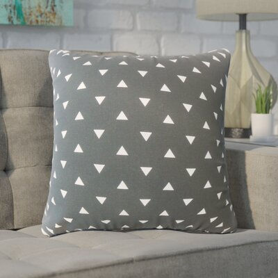 Wight Geometric Down Filled 100% Cotton Throw Pillow Size: 18 x 18, Color: Black