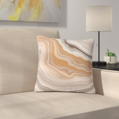Burnt Geological Outdoor Throw Pillow Size: 16 H x 16 W x 5 D