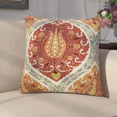 Aero Ikat Down Filled Linen Throw Pillow Size: 22 x 22, Color: Pomegranate
