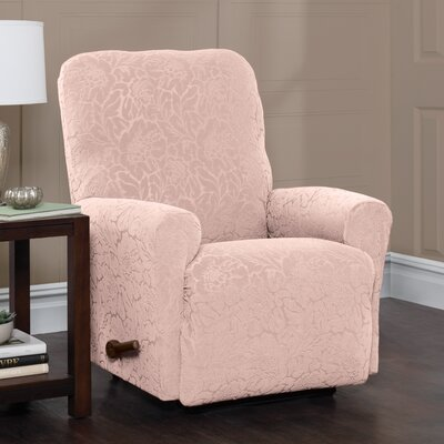 Box Cushion Recliner Slipcover Upholstery: Blush/Floral