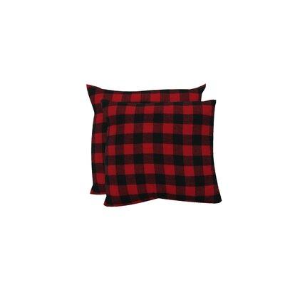 Petersburg Buffalo Checks Throw Pillow Color: Red/Black