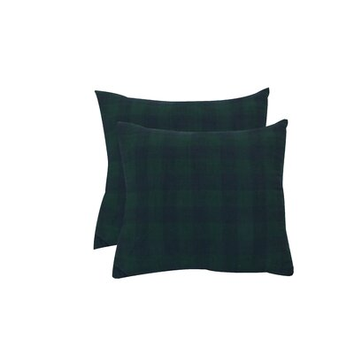 Petersburg Buffalo Checks Throw Pillow Color: Navy Blue/Dark Green