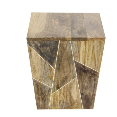 Orme Natural Trapezoidal End Table