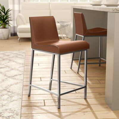 Cristobal 24 Bar Stool Upholstery: Cognac