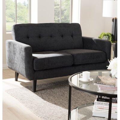 Whalen Loveseat Upholstery: Dark Gray