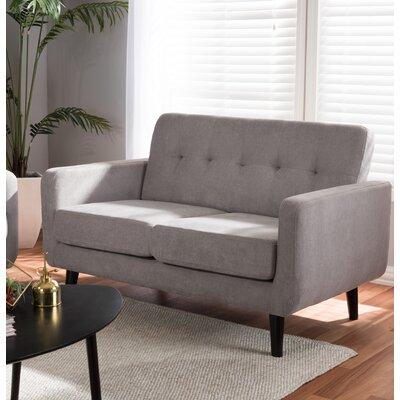 Whalen Loveseat Upholstery: Light Gray