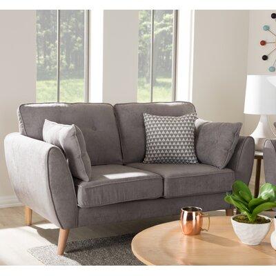 Crosstown Loveseat Upholstery: Light Gray