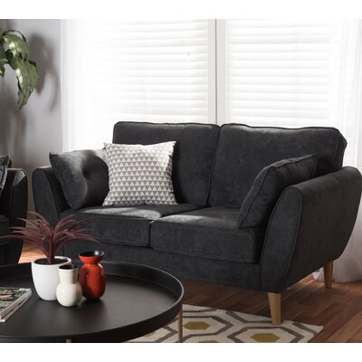 Crosstown Loveseat Upholstery: Dark Gray