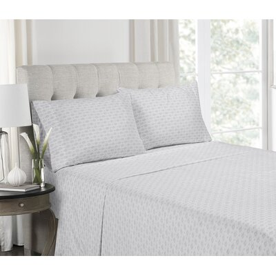 Getz Super Soft Printed Microfiber Sheet Set Size: Queen