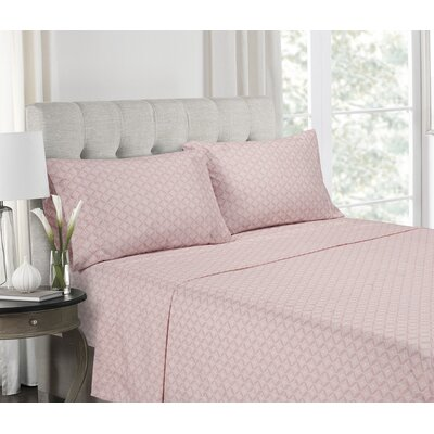Ranney Blush Super Soft Printed Microfiber Sheet Set Size: Full
