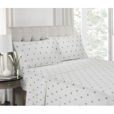 Giambrone Super Soft Printed Microfiber Sheet Set Size: Queen