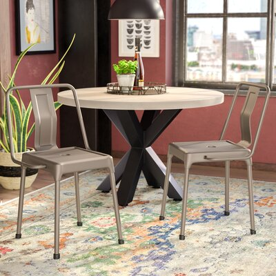 Menke Side Chair Upholstery: Cappuccino