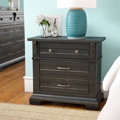 Jenifry 3 Drawer Nightstand