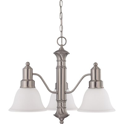 Kaylor 3-Light Candle-Style Chandelier Shade Color: Frosted