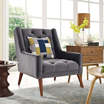 Mcwilliams Armchair Upholstery: Gray