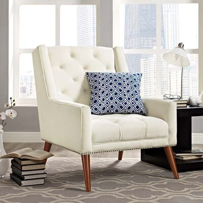 Mcwilliams Armchair Upholstery: Ivory