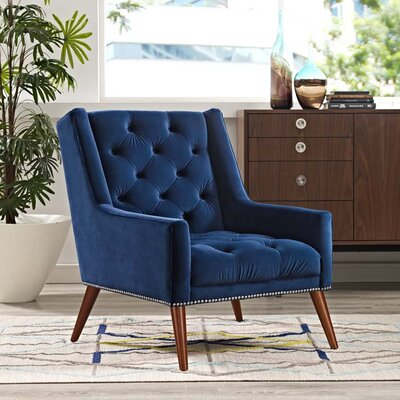Mcwilliams Armchair Upholstery: Navy