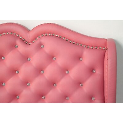 Hsieh Upholstered Panel Bed Size: Twin, Color: Pink