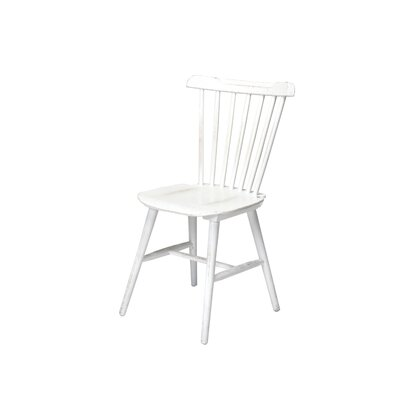 Hileman Windsor Stackable Solid Wood Dining Chair Color: White Wash
