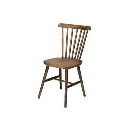 Hileman Windsor Stackable Solid Wood Dining Chair Color: Dark Walnut