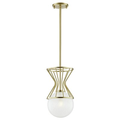 Hopson 1-Light Mini Pendant Finish: Aged Brass