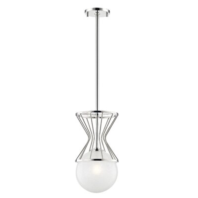 Hopson 1-Light Mini Pendant Finish: Polished Nickel