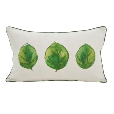 Lenglen 3 Leaves Embroidered Lumbar Pillow