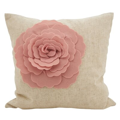 Keech Lotus Flower Statement Cotton Throw Pillow Color: Rose