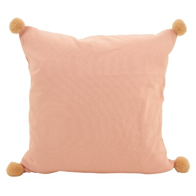 Hugo Pom-Pom Statement Cotton Throw Pillow Color: Rose
