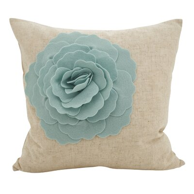 Keech Lotus Flower Statement Cotton Throw Pillow Color: Aqua