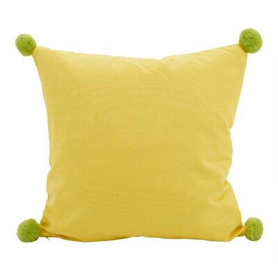 Hugo Pom-Pom Statement Cotton Throw Pillow Color: Yellow