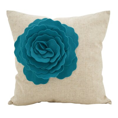 Keech Lotus Flower Statement Cotton Throw Pillow Color: Blue
