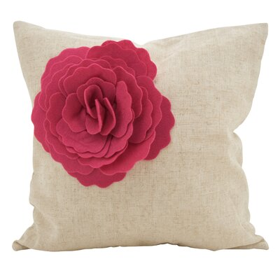 Keech Lotus Flower Statement Cotton Throw Pillow Color: Fuchsia
