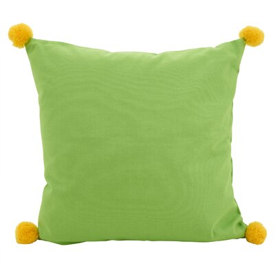 Hugo Pom-Pom Statement Cotton Throw Pillow Color: Lime