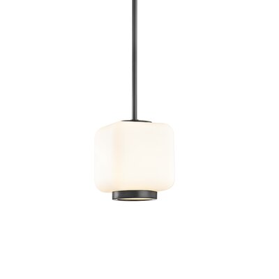 Hoopes 1-Light Mini Pendant Finish: Old Bronze, Size: 11.5 H x 6.5 W x 6.5 D