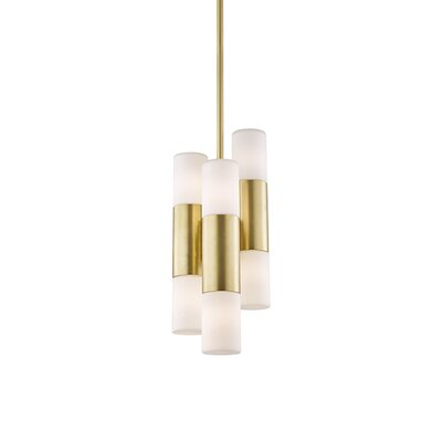 Tamay 6-Light LED Cluster Pendant Finish: Aged Brass