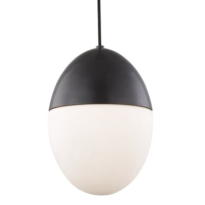 Demars 1-Light Mini Pendant Finish: Old Bronze, Size: 15 H x 10 W x 10 D