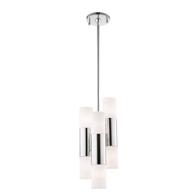 Tamay 6-Light LED Cluster Pendant Finish: Polished Nickel