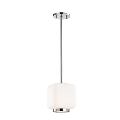 Hoopes 1-Light Mini Pendant Finish: Polished Nickel, Size: 11.5 H x 6.5 W x 6.5 D