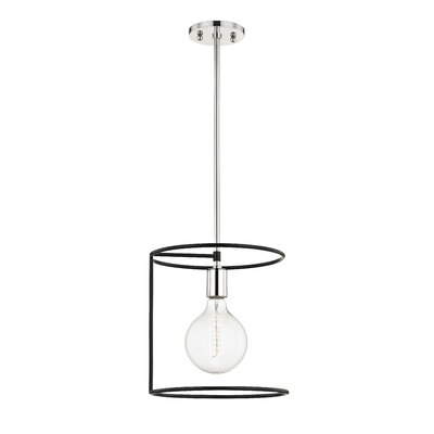 Humbert 1-Light Mini Pendant Finish: Polished Nickel/Black