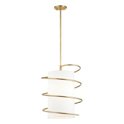 Marcial 1-Light Mini Pendant Finish: Gold Leaf, Size: 18 H x 14.75 W x 14.75 D